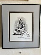 Madonna And Child--paul Conrad Signed Drawing