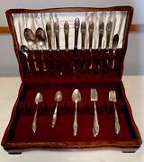 1847 Rogers Bros.1937 50 Pcs. First Love Flatware Set With Chest