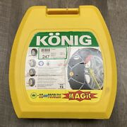 Konig Model T2 Magic Size 247 Snow Ice Tire Chains For Larger 4wds - One Pair