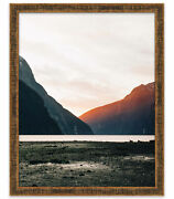 41x31 Stately Gold Wood Picture Frame - With Acrylic Front And Foam Board Backin