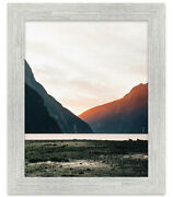 40x38 White Barnwood Picture Frame - With Acrylic Front And Foam Board Backing