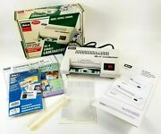 Ibico Gl-4 Small Desktop Laminator Photo Id Business Card Up To 4 Wide Works