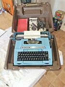 Vintage Smith Corona Typewriter With Spare Ribbon And Instructions