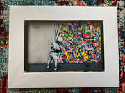 Martin Whatson Behind The Curtain Matted Photo Print Sold Out W/coa Wynwood Wall
