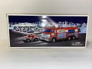 Hess 2005 Emergency Fire Truck With Rescue Vehicle Nib. ..