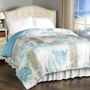 Coastal Icons And Welcome To The Beach Bedroom Comforter
