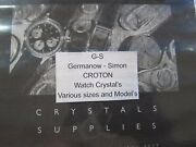 Gs Pa Round Replacement Crystals For Croton Wristwatches
