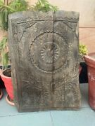 17th Ancient Wooden Hand Carved Fine Floral Design Ceiling Wall Panel 30 X 21''