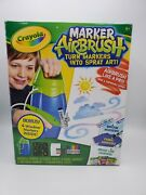 Crayola Marker Airbrush Deluxe Set Incl. Regular Fabric And Window Markers More