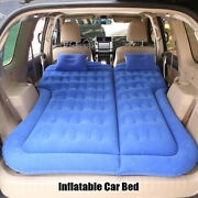 Inflatable Car Bed Air Mattress Universal Suv Travel Sleeping Pad Outdoor Seat