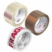 Buff Brown Clear Packaging Parcel Packing Tape Strong 48mm X 66m Fragile 6 12
