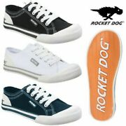 Rocket Dog Womens Jazzin Canvas Pumps Ladies Lace Up Low Top Trainers Sneakers