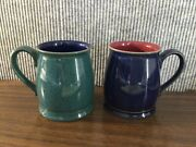 Set Of 2 Denby Langly Harlequin Tudor Mugs Perfect Condition And Hard To Find