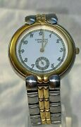 Women's Caravelle By Bullova Gold/silver Dress ,watch, Water Resistant