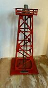 Vintage Lionel Corp Beacon Tower Red Metal No. 394 Train Set Untested 10 1/4