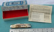 1995 Case Classic 51011 1/2 Ss Cheetah Pocket Knife - Flat Blade And Bowtie Shield