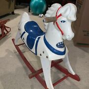 1940's Child's Buddo The Happi-time Rocking Toy White Horse Sears Roebuck - Good