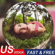 60/100mm K9 Clear Photography Magic Crystal Ball Sphere Decoration Lens Photo Us