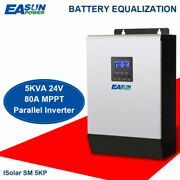 5kva 4000w 24v With 80a Mppt Solar Charger Pure Sine Inverter 60a Battery Charge