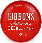 1950s Wilkes-barre Pennsylvania Gibbons Beer Mellow-pure 12 Inch Tavern Trove