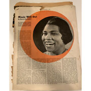 Collection Of Articles Marian Anderson •collier's 1938 • New York Times 1945