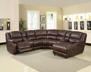 Living Room 7pc Home Theater Sofa Set Storage Chaise Reclining Chair Console