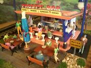 O Scale Custom Built Diorama Frosty Bar Ice Cream Building Assembled Weathered