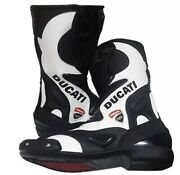 Motogp Best Quality Ducati Menand039s Motorbike Racing Leather Shoes