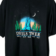 Devils Tower National Monument T Shirt Vintage 90s Crook County Wyoming Size 3xl