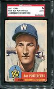 1953 Topps 108 Signed Auto Card Bob Porterfield Sgc Authentic Deceased 1980