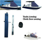 600d T-top Boat Bow Sun Shade Top Mount On Tower Portable Yacht Awning Cloth