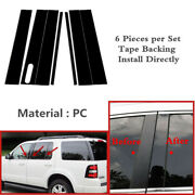 L+r Side Door Trim Pillar Post Piano Cover Fit For Explore Mountaineer 2002-2010