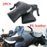 Motorcycle Hand Protector Gloves Fur Winter Thermal Warm Mitts Handle Bar Muffs