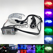 4 In 1 Remote App Rgbw Led Demon Eye Halo Ring For Headlight Dual Projector Lens
