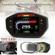 1andtimesuniversal Tft Led Speedometer Lcd Digital Odometer For 2.4 Cylinder Motorcycle