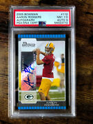 2005 Bowman Aaron Rodgers 112 Rookie Rc Psa 9 Autograph Packers Rare