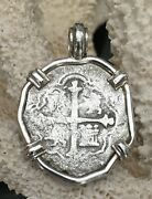 Sao Jose Shipwreck Coin Pirate Spanish Piece Of Eight Authentic 4r Ss Pendant