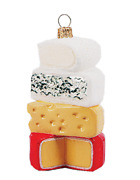 Cheese Stack Food Cooking Polish Glass Christmas Ornament Decoration 110267
