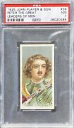 Peter The Great 1925 John Player And Sons Leaders Of Men 38 Psa 7 Nm Rare