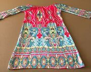 Military Hippy Colorful Summer Mid Sleeve Dress Size Small
