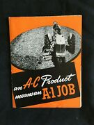 1946 Allis-chalmers Tractor Implements Dealership Fold-out Brochure / Poster