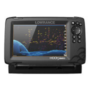 Lowrance Hook Reveal 7 Chartplotter/fishfinder W/tripleshot Transom Mount Tra...