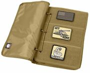 Coyote Brown Hook And Loop Tactical Patch Book - 10 Page Morale Patches Holder