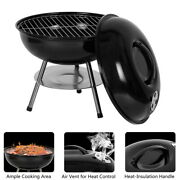 Portable Grill Bbq Smoker Charcoal Outdoor Camping Patio Wood Barbeque Oven