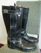 Vintage 60and039s Goldtop Trophy Leather Motorcycle Boots Size Uk9 /43