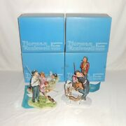 """Complete Series Vintage Norman Rockwell Four Seasons """"grandpa And Me"""" Figurines"""