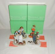 """Com Set Norman Rockwell Four Seasons """"going On Sixteen"""" 1st Edition Figurines"""