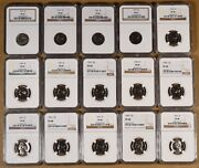 1950 To 1964 Proof Jefferson Nickels Certified Pf66 Thru Pf68 By Ngc -15 Coins