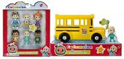 Cocomelon Musical Yellow School Bus Family And Friends Pack Figure Set Lot