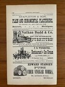 Antique Ad 1879 Nathan Budd And Co New And Second Hand Furniture Detroit Mi